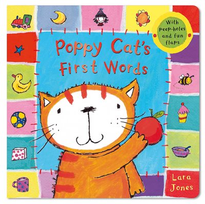 Book cover for Poppy Cat's First Words